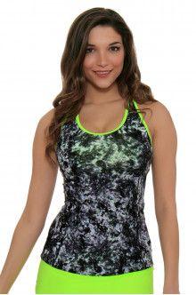 cf37d6b6a99d2 Tennis Outfit l New Balance Lime Glo Tank Top : WT71165 Tennis Tops, Tennis  Fashion