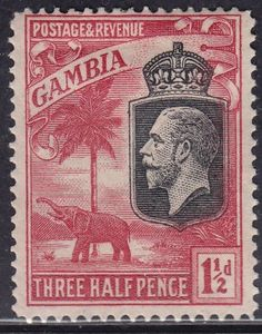 Gambia 104 UNUSED 1922 Elephant - bidStart (item 31320767 in Stamps, Africa, Gambia)