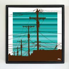 "Overflow series: ""Old Days"" 24 x 24 inch, digital art & gloss and matte gel on stretched canvas. 26.5 x 26.5 inch, float frame - black flat. ---------------------------------------- #popart #popartist #digitalart #art #artist #contemporaryart #colorfield #abstractart #gloss #matte #art #canvas #jonsavagegallery"