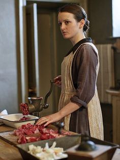 Daisy has been promoted from scullery maid to Mrs. Patmore's assistant.