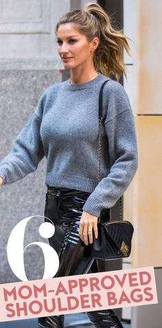 11 Shoulder Bags That Are Totally Mom-Approved Bags Online Shopping, Fashion Bags, Womens Fashion, Friends Mom, Spring Dresses, Marc Jacobs, Beautiful People, Men Sweater, Crossbody Bag