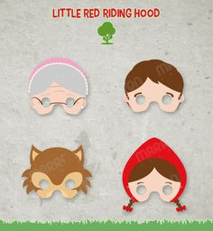 Little Red Riding Hood tale, Wolf , Grandma and woodcutter Mask Printable for birthdays, sold by Marron Studio. Shop more products from Marron Studio on Storenvy, the home of independent small businesses all over the world. Red Riding Hood Wolf, Red Riding Hood Party, Little Red Ridding Hood, Puppets For Kids, Red Party, Woodland Party, Mask For Kids, Paper Dolls, Kindergarten