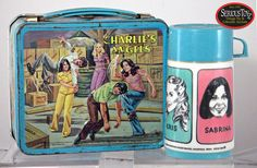 "Back of Box Detail - 1978 ""Charlie's Angels"" Lunch Box w/thermos"