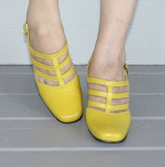 If only I knew my post-pregnancy feet size.  These vintage 60's shoes are SO cute!