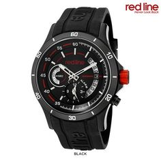 Red Line Men's Tech Alarm Watch with Silicone Band - Assorted Colors at 91% Savings off Retail!