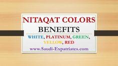 NITAQAT RED GREEN YELLOW WHITE PLATINUM