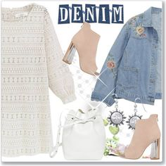 Denim Trend: Jean Jackets by andrejae on Polyvore featuring Chicnova Fashion, Mansur Gavriel, Carolina Glamour Collection and jeanjackets