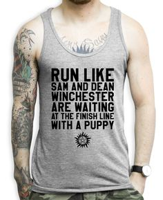 Run Like Sam And Dean Winchester Are Waiting At The Finish Line With A – Stride Fitness Apparel