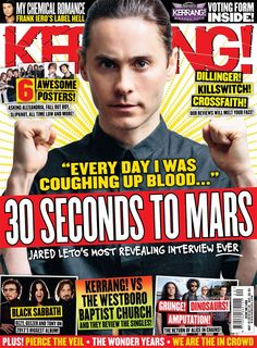 Kerrang cover- UK issue may 2013 All Time Low, All About Time, 30 Seconds, Thirty Seconds, Asking Alexandria, Frank Iero, Black Sabbath, Day Up, Fall Out Boy