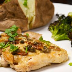 Garlicky Chicken with Lemon-Anchovy Sauce by Oui Chef Network