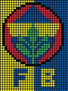 Cross Stitch Patterns, Knitting Patterns, Pixel Crochet Blanket, Hama Art, Cross Stitch Beginner, Pixel Art, Diy And Crafts, Embroidery, Logos