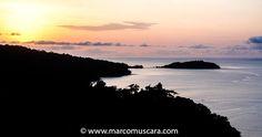 Panoramic sunset view from Belo Monte plantation with Bom Bom in the distance, Príncipe, São Tomé and Príncipe © Marco Muscarà, www.marcomuscara.com