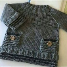 Baby Knitting Patterns Funny … v … Baby Boy Knitting Patterns, Crochet Baby Dress Pattern, Baby Dress Patterns, Knitting For Kids, Knit Patterns, Knit Crochet, Free Knitting, Knitted Baby Cardigan, Knit Baby Sweaters