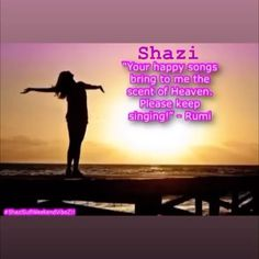 "@shazisufivibez's Instagram video: """"Shazi Your happy songs bring me the scent of heaven! Please keep singing!"" - Rumi"""