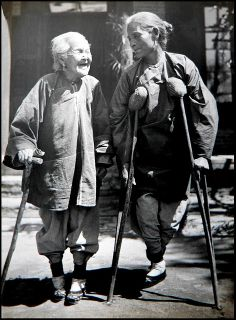 EXPRESSIONS OF LOVE in OLD CHINA -- An Elderly Mother Escorts Her Daughter Home from the Hospital