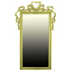 Solid Brass Ribbon Swag Wall Mirror   1stdibs.com