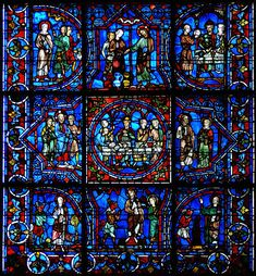 Chartres (this blue dye cannot be replicated - it was a gift from Egypt many centuries ago.)