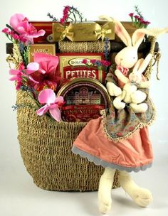 Easter basket deluxe elegant large easter basket great family family easter deluxe gourmet easter gift basket holiday adds negle Gallery
