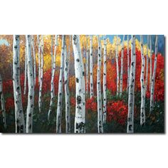Aspen Paintings, Birch Tree Art, Contemporary Landscapes by ...