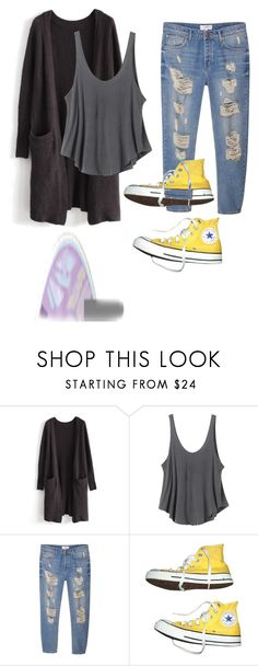 """""""Out"""" by splash-of-happy on Polyvore featuring Chicwish, RVCA, MANGO, Converse and tarte"""