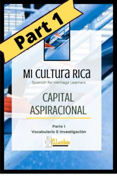 Capital Aspiracional is the first unit in the Mi Cultura Rica series for Spanish Heritage Learners. This series gives students the opportunity to focus on the strengths and resources of their culture. The Capital Aspiracional unit guides students in examining the aspirations of Latino immigrants ... Spanish Heritage, Hopes And Dreams, Writing Activities, Teacher Newsletter, To Focus, Grammar, Lesson Plans, Opportunity, Students