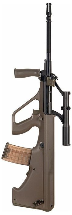 Steyr AUG-A1Save those thumbs & bucks w/ free shipping on this magloader I purchased mine http://www.amazon.com/shops/raeind  No more leaving the last round out because it is too hard to get in. And you will load them faster and easier, to maximize your shooting enjoyment.  loader does it all easily, painlessly, and perfectly reliably