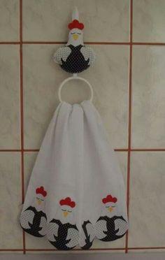 Paño Kitchen Linens, Kitchen Towels, Dish Towels, Tea Towels, Chicken Kitchen, Towel Crafts, Lovely Creatures, Felt Dolls, Fabric Crafts