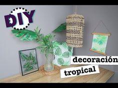 DIY COMO HACER DECORACION TROPICAL | BOTANICO | JUNGLA