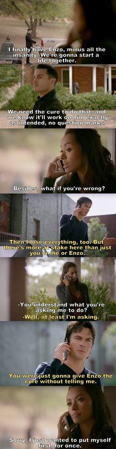 The Vampire Diaries TVD S08E11- Damon & Bonnie