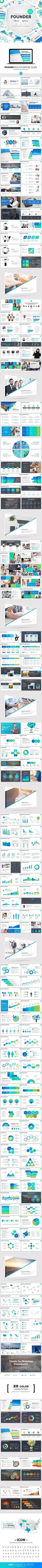 Founder Powerpoint Template - Business #PowerPoint #Templates Download here: https://graphicriver.net/item/founder-powerpoint-template/19513740?ref=alena994