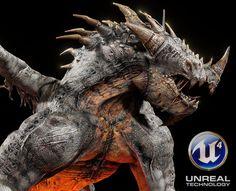 Ragnosaur Unreal 4 demo, Eric Wilkinson on ArtStation at https://www.artstation.com/artwork/ragnosaur-unreal-4-demo