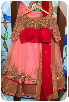 Beautiful color combination of lahenga choli