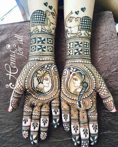 Bridal henna ❤️ thus design is one on my favorite 😌 #henna #elephants #hennatattoo #hennadesign #hennainspire #hennainspiration…