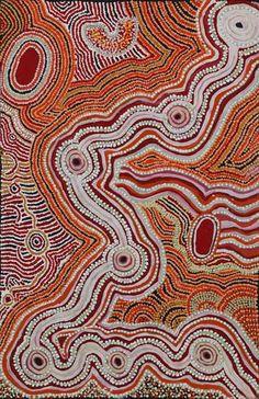 La retícula comienza allá abajo: David Miller - 'Wati Ngintaka' - Outstation Gallery - Aboriginal Art from Art Centres