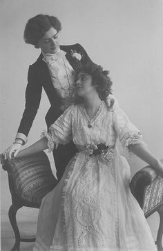 Lily as a man in a play