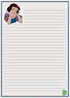 Disney Writing, Mickey Mouse, Lilo E Stitch, Writing Paper, Snow White, Printables, Note, Drawings Of Couples, Belle Drawing
