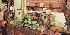 tuscan floral centerpiece | really pretty | Tuscan Bedding, Furniture, and Accessories | Pinterest