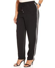 Style&co. Plus Size Striped Jogger Pants