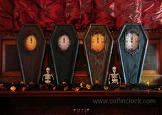 Coffin Clock Details. I can't decide whether I want the black or brown! They're all so gorgeous!!!