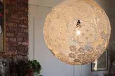 Light Up Your Crochet: Vintage Doilies Recycled into Chic Lighting : TreeHugger