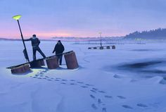 Stockholm, Sweden-based artist Simon Stalenhag makes intriguing landscape paintings that depict the Swedish countryside of the recent past, but with the Spire, Hidden Art, Inspiration Artistique, Concept Art World, Chef D Oeuvre, Matte Painting, Science Fiction Art, Rpg, Apocalypse