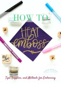 Use embossing ink, embossing powder, and a heat tool to create beautiful raised designs. Learn about how to use embossing markers, stamp pads, and liquid ink.