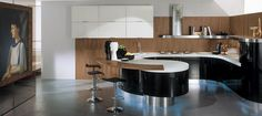 Browse 194 pictures of Round Kitchen Island. Discover concepts and inspiration for Round Kitchen Island so as to add to your personal dwelling. Contemporary Kitchen, Kitchen Design, Modern Kitchen, Curved Kitchen, Modern Kitchen Set, Ikea Kitchen Furniture, Modern Round Kitchen, Kitchen Style, Contemporary Kitchen Cabinets