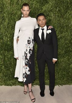 Designer date: The 24-year-old actress stepped out in a stunning creation by Prabal Gurung...