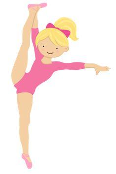 Gymnastics Cakes, Gymnastics Birthday, Gymnastics Girls, Ballerina Dancing, Ballerina Party, Angelina Ballerina, Pretty Ballerinas, Girl Clipart, Girl Themes
