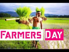 Farmers Day Whatsapp Status farmers day special video Farmers Day Status... Farmers Day, Indian Girls Images, Agriculture, Running, Youtube, Beautiful, Keep Running, Why I Run, Youtubers