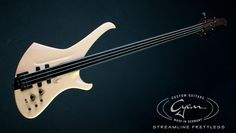 Cyan Guitars Streamline fretless bass
