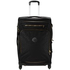 Kipling Wheeled Luggage (1.155 BRL) ❤ liked on Polyvore featuring bags, luggage and black
