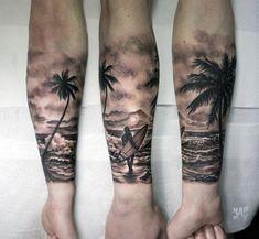 Ideas for tattoo designs sleeve ocean - Ideas for t.- Ideas for tattoo designs sleeve ocean – Ideas for tattoo designs sleeve… Ideas for tattoo designs sleeve ocean – Ideas for tattoo designs sleeve ocean – - Ocean Sleeve Tattoos, Tree Sleeve Tattoo, Ocean Tattoos, Forearm Sleeve Tattoos, Beach Tattoos, Tropisches Tattoo, Surf Tattoo, Forarm Tattoos, Relax Tattoo