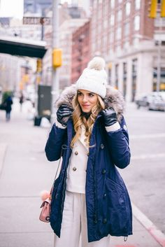 Winter in NYC - bundled up cuz it's cold outside! But my curls are in place - thanks TRESemmé!